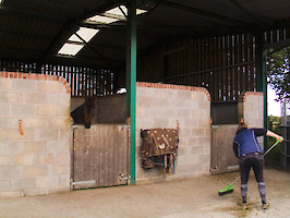 Field Farm Cross Country Livery tidying up