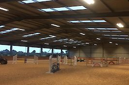 Field Farm Cross Country Indoor Arena ready to ride