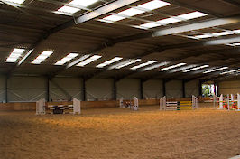 Field Farm Cross Country Indoor Arena varied jumps