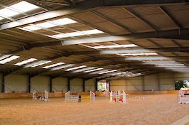 Field Farm Cross Country Indoor Arena varied jumps 1