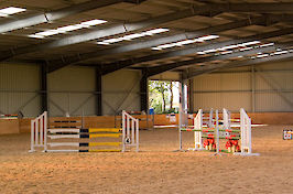 Field Farm Cross Country Indoor Arena varied jumps 4
