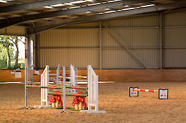 Field Farm Cross Country Indoor Arena varied jumps 6